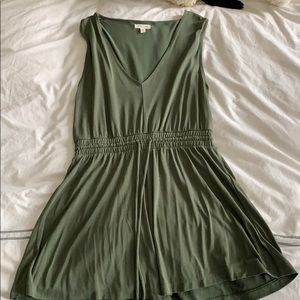 Silence and noise green romper